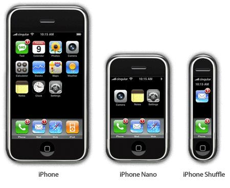 iPhone NANO, iPhone Shuffle
