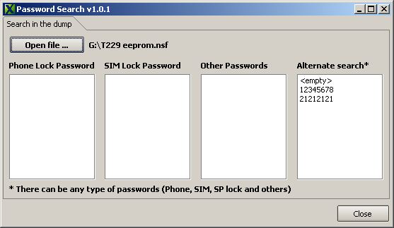 Password Search v1.0.1